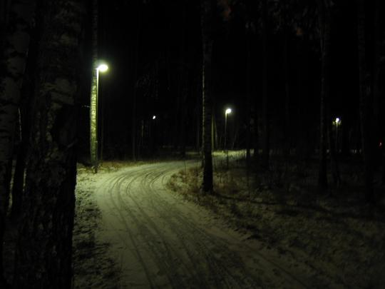 Linkoping, Snowy Walking Path