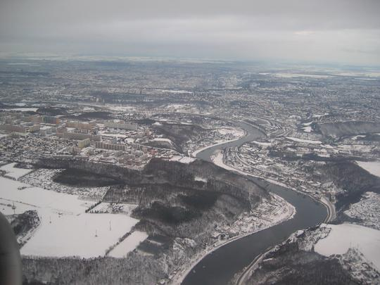Approaching Prague by Air