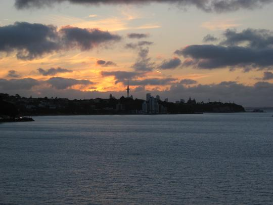 Auckland from St Heliers at Sunset