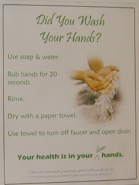 Wash Your Hands. Dartmouth University